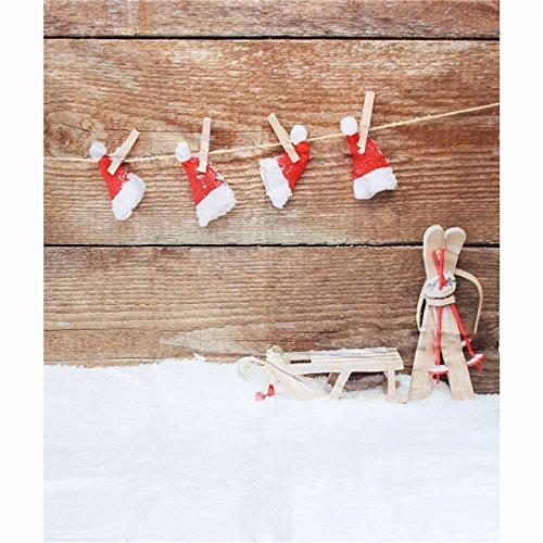 MASUNN 3x5ft 1.5 X1M Vinyl Weihnachts-Schnee-Thema Studio Fotografie Prop Background