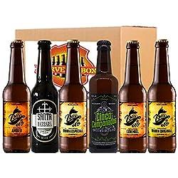 Pack Degustacion 6 Cerveza Artesana Regalo Alicantina Alicante Artesanal Nacional CERVEZABOX