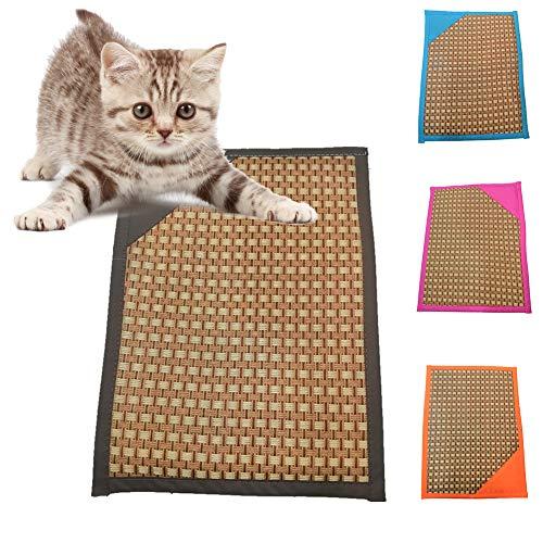 FeiyanfyQ Haustiermatte für Hunde, Sommer, Kühlunterlage, tragbar, atmungsaktiv, Rattan, Himmelblau XL -