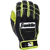 Franklin Sports Adult MLB CFX Pro Revolt Series Batting Gloves, Optic Yellow/Black, XX-Large