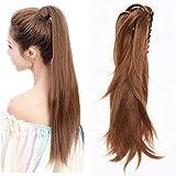 TESS Pferdeschwanz Haarteil Ponytail Extensions DIY Haarverlängerung Clip in Synthetik Haare für Zopf Haarteil Hair Extensions 12
