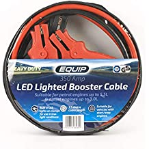 Equip - Cable Elevador de 350 amperios con Luces LED de Abrazadera, Apto para Motores