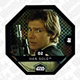 Rewe STAR WARS Cosmic Shells Normal 02 Glitzer Han Solo +WIZUALS STICKER