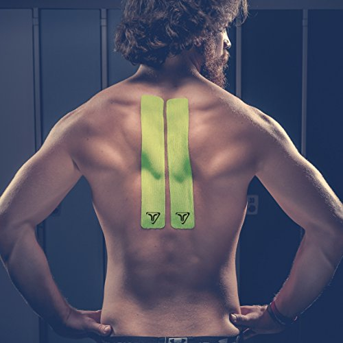 TRUETAPE ATHLETE EDITION | vorgeschnittenes Kinesiologie Tape | True Lime | Physio-Tape | Kinesiotapes | 20 vorgeschnittene Streifen | CE Zertifiziert | Farbauswahl | Aufbewahrungsbox | 40 Anleitungen - 2