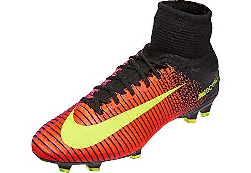 Nike Herren Mercurial Superfly V FG Fußballschuhe, Orange (Total Crimson/VLT-Blk-PNK BLST), 41 EU (Die Sorge Kraft Gemeinsame)