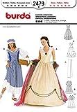 Burda patrón de costura para mujer 2479 - emperatriz y lavandera disfraz infantil de tamaños: 10-20
