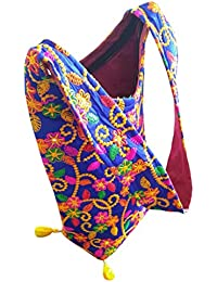 Diwali Special Gift,Floral Kutchi Embroidered Work Tote Bag, College Girls Special Cross Body Bag,Indian Ethnic...