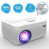BIGASUO Projecteur DVD , Bluetooth Projecteur Protable 3500 lumens de vidéo...
