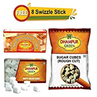 Dhampur Green Sugar cubes Assortment pack(Pack of 3), Free swizzle Stick worth Rs. 160
