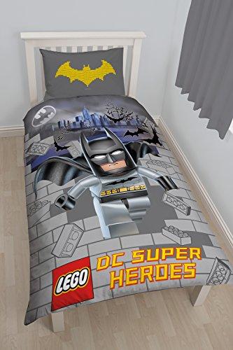 Character world Lego DC-Supereroi: Kapow-Set copripiumino per letto singolo