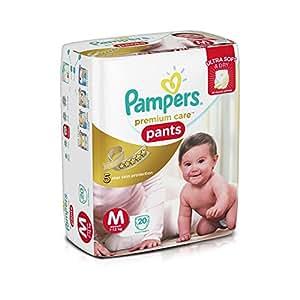 Pampers Premium Care Medium Size Diaper Pants (20 Count)