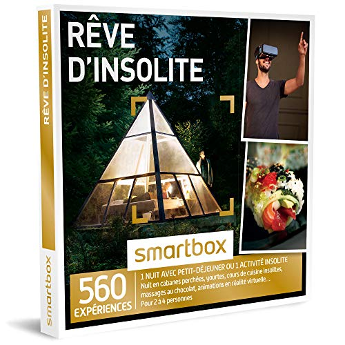 SMARTBOX - Coffret Cadeau homme femme couple - Rêve d'insolite - idée cadeau - 560...