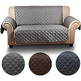 Auralum - Funda de sofá para animal doméstico, 2 plazas(167cm*112cm), Protector Impermeable para Sofás de fachada y contrario se puede utilizar - Gris oscuro / Gris claro