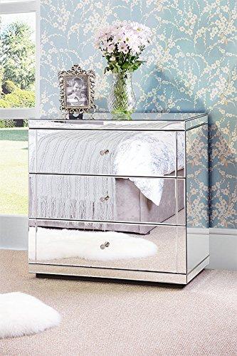 My-Furniture - FLAVIA - Cómoda espejo zócalo 3 cajones