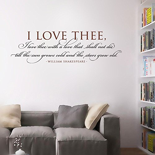 Stickers Muraux Wall Decal Phrases Words Lettering Decor Sticker Wall Vinyl I Love Thee With A Love That Shall Not Die