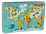 Apli kids-Caja puzle mapa mundi Martina Hogan, 24 unidades