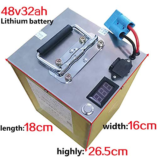 Batteria elettrica ad alta potenza 2000W 48V 20AH 30AH 40AH 60AH Batteria bici elettrica 48V 20AH Batteria al litio 48 Volt con caricabatterie rapido BMS (48V 32Ah (18cm×16cm×26.5cm)