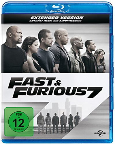 fast 7 blu ray Fast & Furious 7 - Extended Version [Blu-ray]