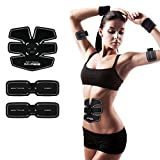 Electroestimuladores Muscle Trainers Entrenadores Abdominales EMS Estimuladores Eléctricos Abs Muscle Exercise Trainer Ab Tonificación Cinturones Smart Fitness Muscle Strength Training Para Abdomen / Brazo / Pierna Hombres Mujeres Home Office Workout Gym Equipment,2*Apparatus