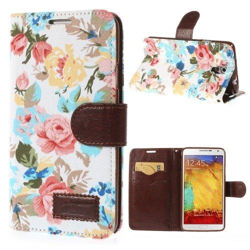 Caso di vibrazione del telefono mobile in per Samsung Galaxy Note per 3 Neo 3G / SM-N750, Galaxy Note 3 Neo LTE / GT-N7505 Floral Primavera Estate bianco