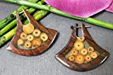 Naturesco Holz Ohrringe aus Sono-Holz und Bambus 45mm - Versand kostenlos!