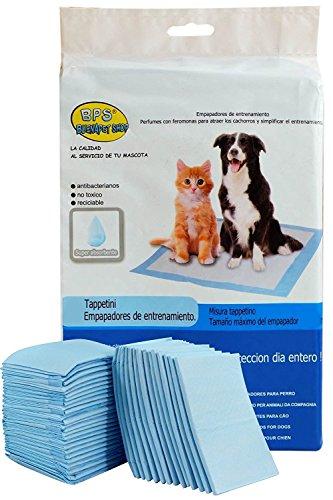 BPS Empapadores de Entrenamiento para Perros Gatos Perfumes con Feromonas para Atraer los Cachorros y Simplificar el Entrenamiento (20pcs 60 * 60 cm) BPS-2167