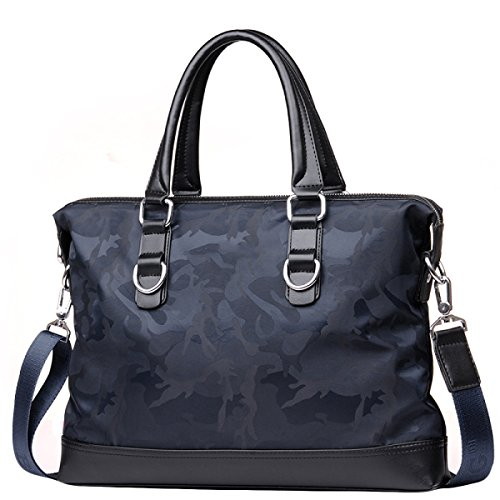 Herren Business Bag Tasche Oxford Handtasche Querschnitt Casual Bag Business Bag Aktentasche Schultertasche Diagonal Paket CamouflageBlue