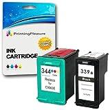 Printing Pleasure 2 Druckerpatronen für HP Photosmart 2570 2573 2575 2605 2610 2710 8050 8150 8450 8750 DeskJet 5740 5940 5950 6540 6840 6940 6980 | kompatibel zu HP 339 (C8767EE) & HP 344 (C9363EE)