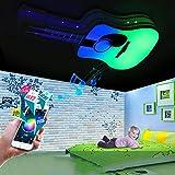 YDYG LED Música Techo Luz Creativa Niños Sala De Protección De Ojos Techo Lámpara Inteligente App Dormitorio Sala De Estar Decoración Colorido Araña,Noremotecontrol