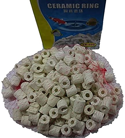 Superaqua Aquarium Ceramic Bio Rings Filter Premium Ceramic Rings Media for All Types of Fish Tanks and Ponds, 250