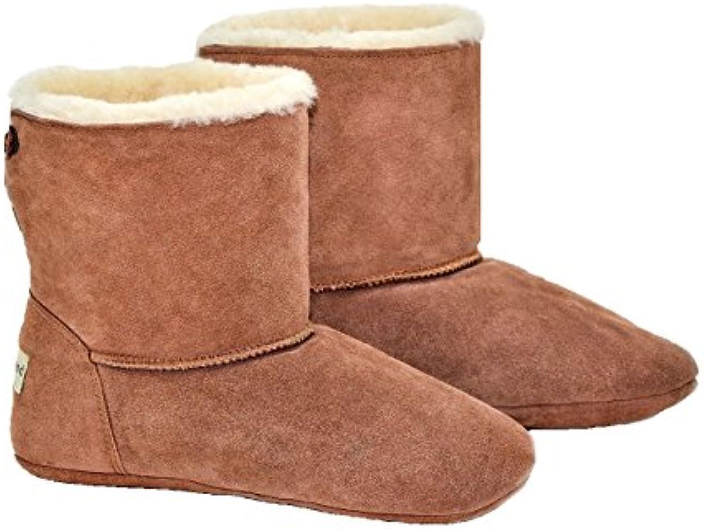 Unisex Lujo Sheepland oveja Indoor zapatillas botas -