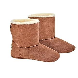 Sheepland Unisex Sheepskin Indoor Slipper Boots 18