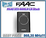 FAAC XT2 868 SLH LR negro. Puerta de control remoto mando transmisor, 868Mhz código variable llave de control !!!
