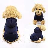 U.Expectating Hundekleidung Hoodie Winter warmen Welpen Mantel Stricken Welpen Pullover (S, Marine)