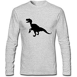 Creative Velociraptor Logo Heather gray Males Clothing Large