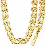 Fashion Jewelry Simple Unique Design 18K Gold Plated Necklace&Bracelet Set For Men Or Women GiftNB60091