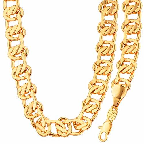 fashion-jewelry-simple-unique-design-18k-gold-plated-necklacebracelet-set-for-men-or-women-giftnb600