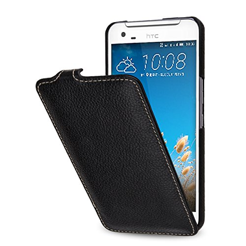 StilGut UltraSlim Case, Tasche aus Leder für HTC One X9 / One X9 Dual SIM, Schwarz