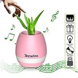Maceta mágica, de Tecwizz. Reproduce música. Luces LED multicolor. Conexión Bluetooth. Para la oficina, el salón o el dormitorio, rosa