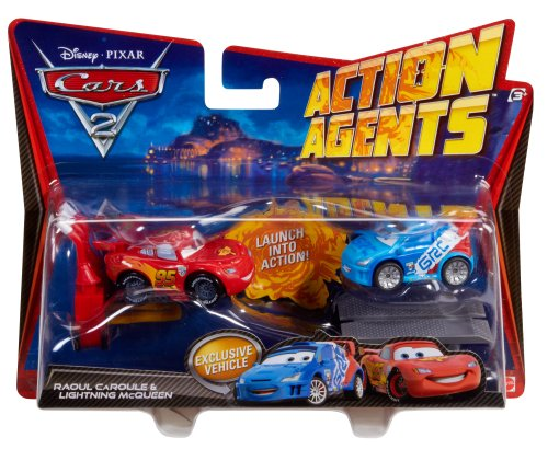 mattel-disney-cars-2-action-agents-battle-pack-rayo-mcqueen-y-raoul-caroule