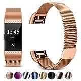 Mornex Bracelet Compatible Fitbit Charge 2, Métal Bande en Acier Inoxydable...
