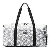 Jadyn B Weekender Bag/Weekender Damen - 56 cm./ 52 L Sporttasche mit Schuhfach/Reisetasche (Geometric Gray)