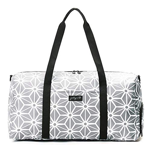 Jadyn B Weekender Bag - 56 cm./ 52L Sporttasche mit Schuhfach (Geometric Gray) (Sport Bag Duffle Große)