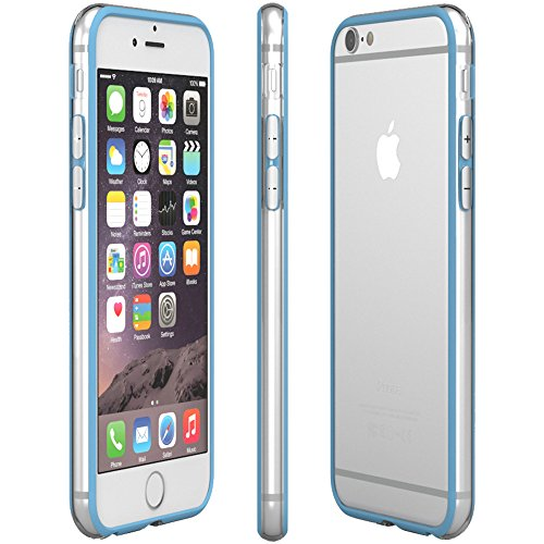 Apple iPhone 6S Plus / 6 Plus Hülle, EAZY CASE Bumper - Premium Handyhülle aus Silikon - Flexible Schutzhülle als Cover in Rosa Hellblau