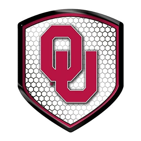 Oklahoma Sooners NCAA Reflector Decal Auto Shield for Car Truck