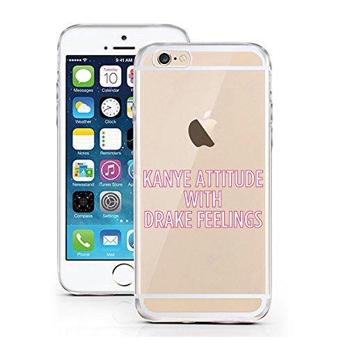 iPhone 7 Hülle von licaso® für das Apple iPhone 7 aus TPU Silikon Not my PROB-LLAMA Lama Spucke Style Muster ultra-dünn schützt Dein iPhone 7 & ist stylisch Schutzhülle Bumper in einem (iPhone 7, PROB Kanye Attitude with Drake Feelings