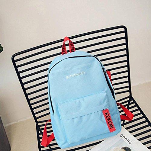 Longra KEKEMI lettere borse da stampa borsa da viaggio zaino borsa Blu