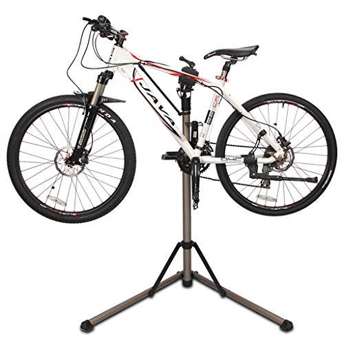 Bicycle stand Portabici da Terra - portaoggetti Meccanico Pieghevole Regolabile in Altezza - parcheggio per treppiede Retrattile più Stabile - con Strumenti di Riparazio