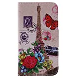 Nancen Nokia Microsoft Lumia 640 / N640 Handy Lederhülle, Flip Case Wallet Cover with Stand Function, Folio Bookstyle Handytasche Soft Silikon Bunte Muster Tasche PU Leder Slim Shell Handyhülle.