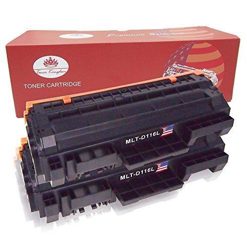 Preisvergleich Produktbild Toner Kingdom 2 Pack kompatibel Tonerpatronen für Samsung MLT-D116S MLT-D116L Xpress M2625 M2626 M2825 M2826 M2875 M2876 M2675 M2676 M2675FN M2825DW M2875FW M2825ND Drucker Schwarz 3,000 Seiten